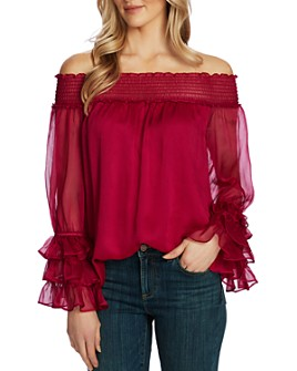 CeCe - Off-the-Shoulder Long-Sleeve Blouse