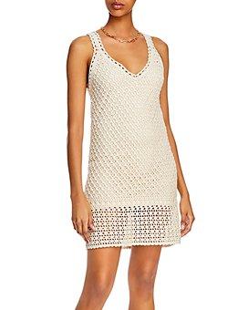 AQUA - Crochet Sleeveless Dress - 100% Exclusive