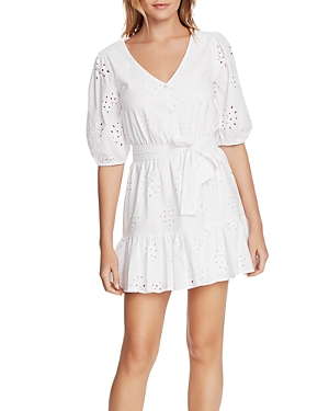 Image of 1.state Cotton Eyelet Flounce Dress