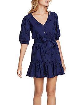 1.STATE - Cotton Eyelet Flounce Dress