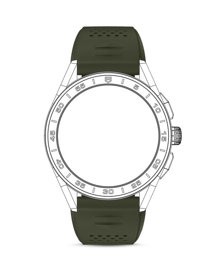 TAG Heuer Connected Smartwatch Green Strap    Bloomingdale's