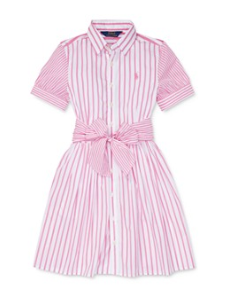 Ralph Lauren - Girls' Cotton Striped Shirtdress - Little Kid