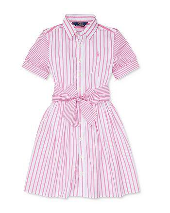 Ralph Lauren - Girls' Cotton Striped Shirtdress - Little Kid