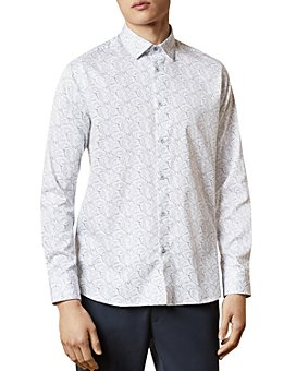 Ted Baker - Slim-Fit Bird Print Shirt
