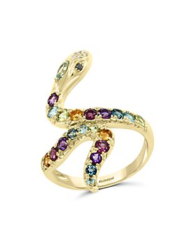 Bloomingdale's - Multi-Gemstone & Diamond Snake Ring in 14K Yellow Gold- 100% Exclusive