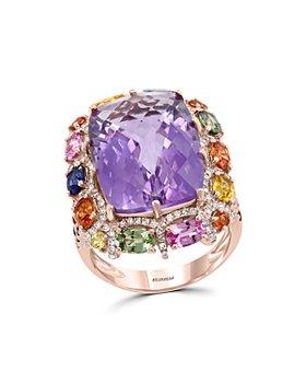 Bloomingdale's - Multi-Gemstone & Diamond Statement Ring in 14K Rose Gold - 100% Exclusive