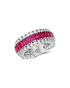 Bloomingdale's - Ruby & Diamond Ring in 14k White Gold - 100% Exclusive