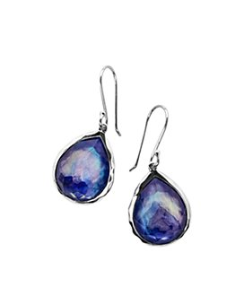 IPPOLITA - Sterling Silver Rock Candy® Mother-of-Pearl, Lapis & Clear Quartz Crystal Triplet Drop Earrings