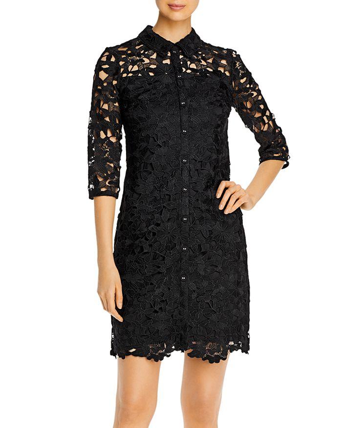 KARL LAGERFELD PARIS - Collared Lace Dress