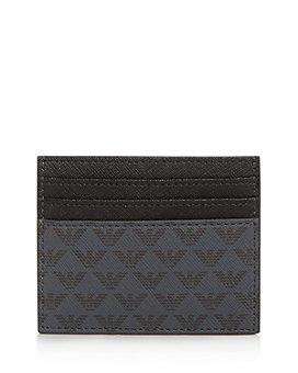 Armani - Logo-Print Leather Card Case