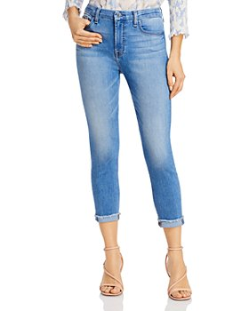 7 For All Mankind - Cropped Frayed Skinny Jeans in Laquinta