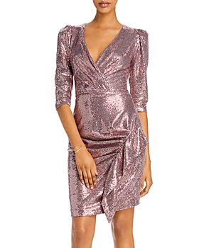 AQUA - Sequined Ruffle-Trim Dress - 100% Exclusive