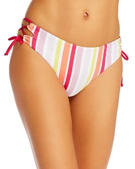 Roxy - Beach Classics Striped Bikini Bottoms