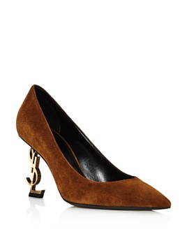 Saint Laurent - Women's Embellished Mid-Heel Pumps
