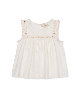 Peek Kids - Girls' Naomi Cotton-Blend Metallic-Stripe Top - Little Kid, Big Kid