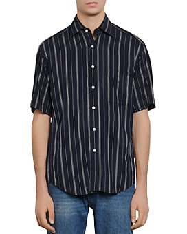Sandro - Slim-Fit Oversized Striped Casual Shirt