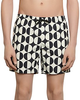 Sandro - Circle Print Swim Trunks