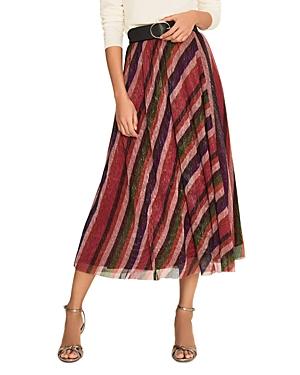 Ba & Sh Midnight Striped Midi Skirt