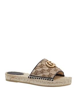 Gucci - Women's GG Matelassé Espadrille Sandals