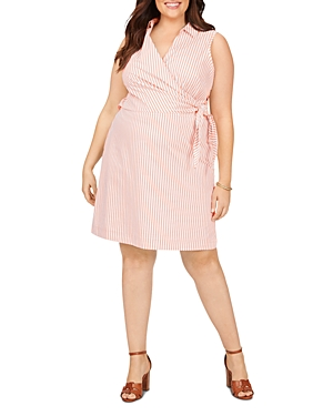 Capri Easy Care Stretch Twill Striped Dress