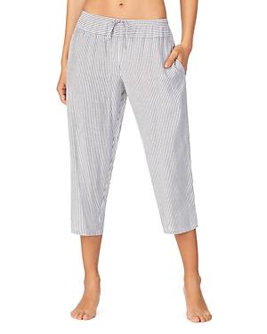 Dkny Striped Cropped Pajama Pants