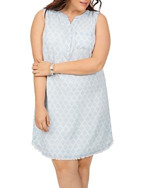 Haven Distressed Print Sleeveless Dress