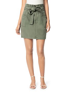 Joe's Jeans - Belted Paperbag-Waist Skirt