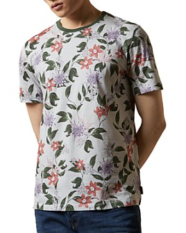 Ted Baker - HEELZ Floral Print Slim-Fit Short Sleeve Shirt- 100% Exclusive
