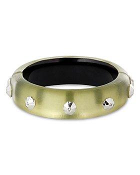 Alexis Bittar - Future Antiquity Crystal Octagon-Studded Bangle Bracelet