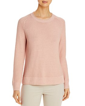 Eileen Fisher Petites - Organic Linen & Cotton Crewneck Sweater