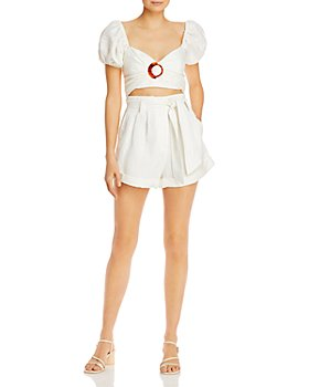 Significant Other - Solace Sweetheart-Neck Top & Belted Shorts