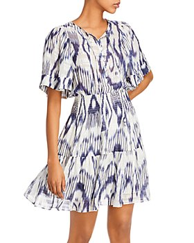 Rebecca Taylor - Printed Smocked-Waist Dress