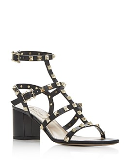 Valentino Garavani - Women's Rockstud Strappy Block-Heel Sandals