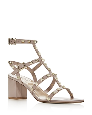 Valentino Garavani Women\\\'s Rockstud Strappy Block-Heel Sandals