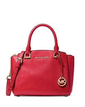 Michael Michael Kors Maxine Small Leather Messenger Bag-Handbags