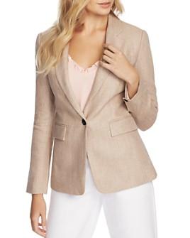 1.STATE - One-Button Linen Blazer