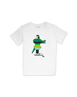 Lacoste - Boys' Jeremyville Graphic Tee - Little Kid, Big Kid