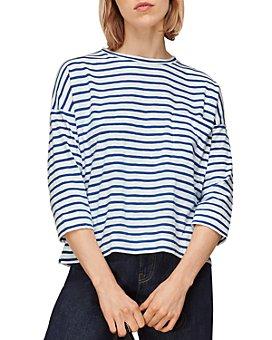 Whistles - Cotton Pocket Striped Top