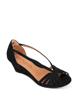 Gentle Souls by Kenneth Cole - Women's Lunette Wedge Sandals