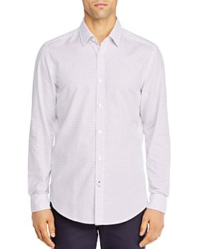 BOSS - Lukas Cotton Dot-Print Shirt