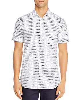 BOSS - Magneton Cotton-Blend Palm-Print Shirt