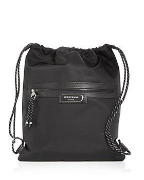 Longchamp - Green District Medium Drawstring Backpack