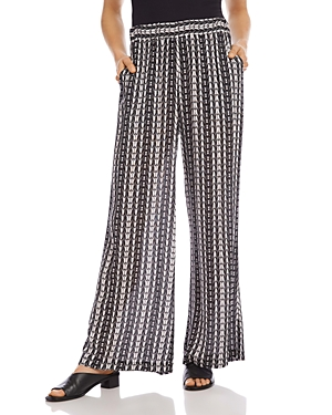 Karen Kane PRINTED WIDE-LEG PANTS