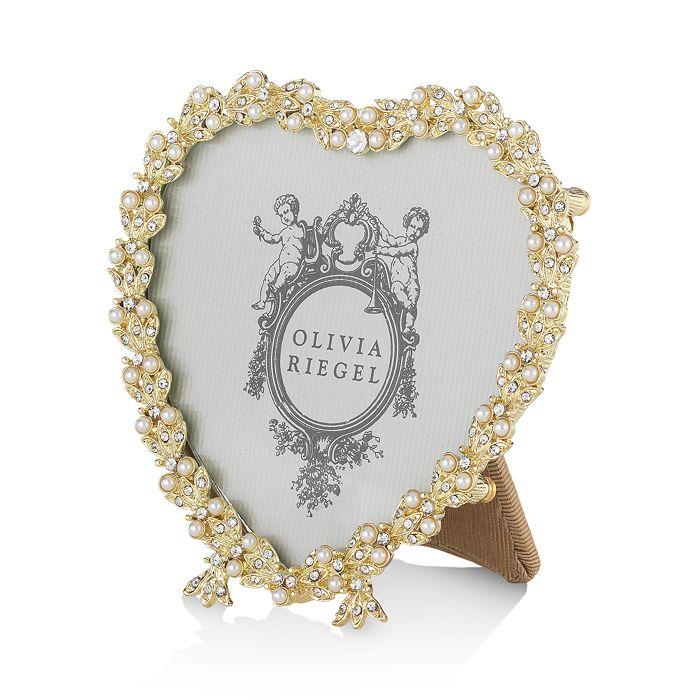 "Olivia Riegel - Gold Contessa Heart Frame, 3.5"""