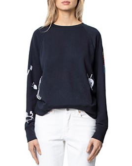 Zadig & Voltaire - Embroidered Purple Sweatshirt