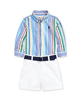 Ralph Lauren - Boys' Poplin Shirt, Belt & Shorts Set - Baby