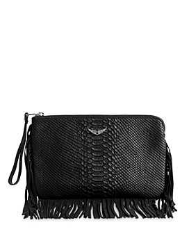 Zadig & Voltaire - Uma Fringes Savage Leather ZV Clutch