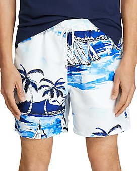 Polo Ralph Lauren - Sailboat Tropical-Print Swim Trunks