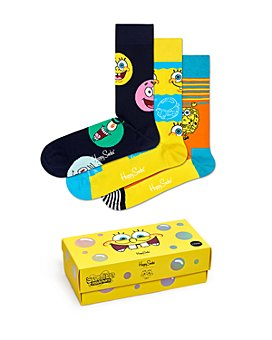 Happy Socks - SpongeBob SquarePants Cotton-Blend Crew Socks Gift Box, Pack of 3
