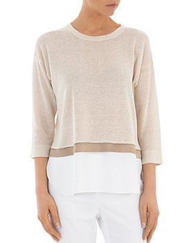 Peserico - Layered-Look Pullover Sweater